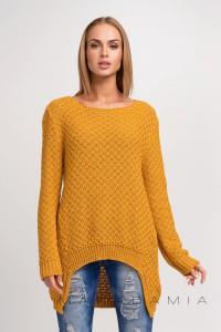 Sweter musztardowy luźny S22
