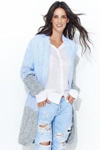 Sweter błękitny z kapturem NU_S37