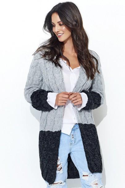 Sweter czarny z kapturem...