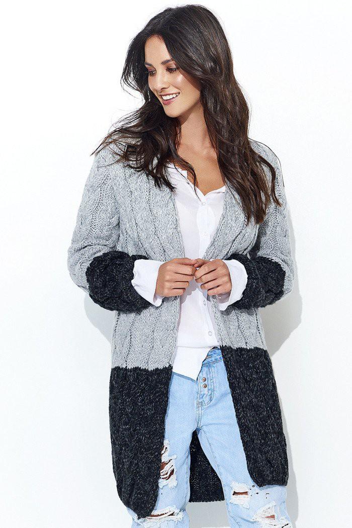 Sweter czarny z kapturem NU_S37