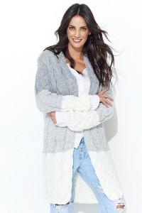 Sweter ecru z kapturem NU_S37