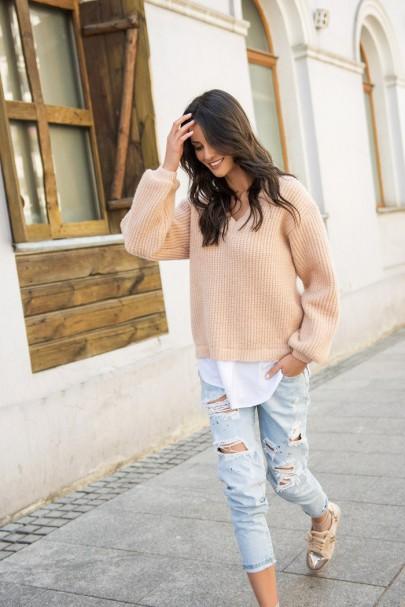 Sweter łososiowy  NU_S39