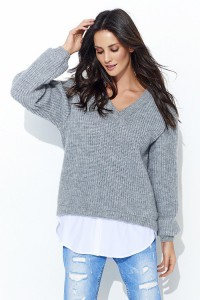 Sweter szary NU_S39