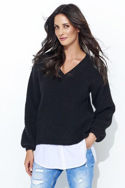 Sweter czarny NU_S39