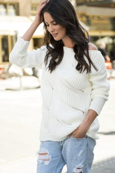 Sweter ecru NU_S40