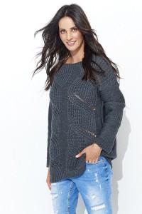 Sweter grafitowy NU_S40