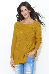Sweter musztardowy NU_S40