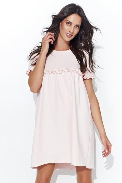 Sukienka pudrowy róż NU93