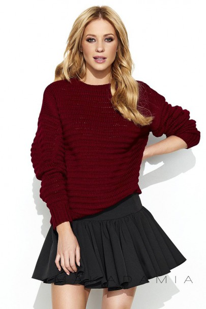 Sweter bordowy S64