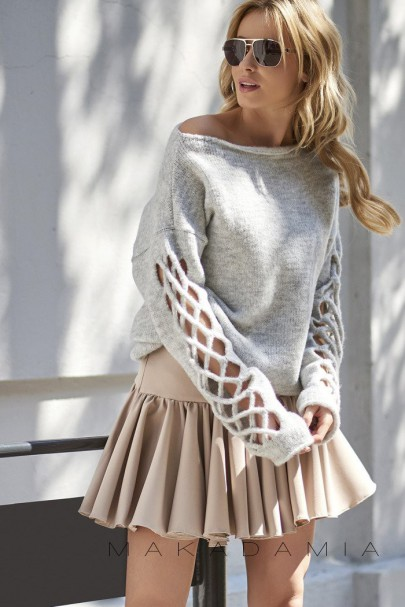 Sweter szary S65