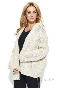 Sweter kardigan beżowy S73