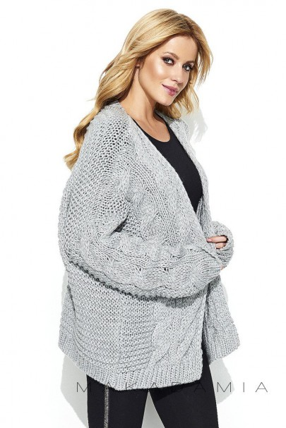 Sweter kardigan szary S73