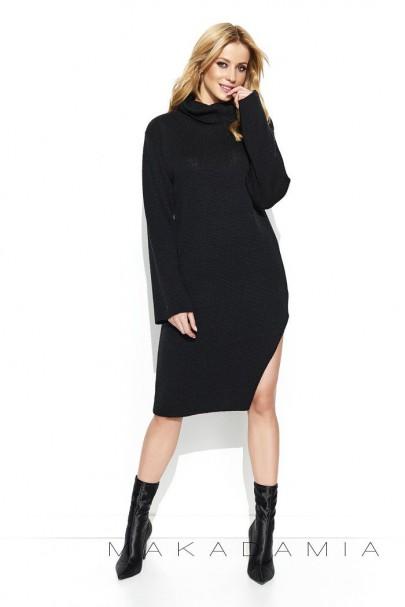 Sweter czarny z golfem S74