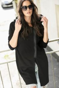 Bluza czarna z kapturem NU96