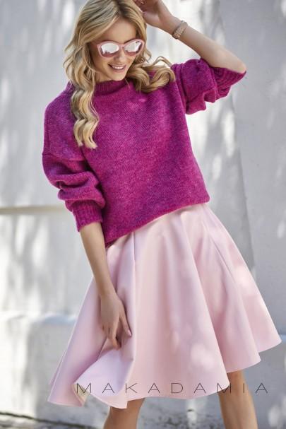 Sweter półgolf fuksja S63
