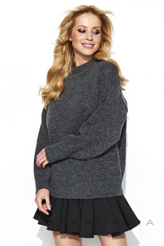 Sweter półgolf grafitowy S63