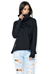 Bluza czarna z golfem NU114