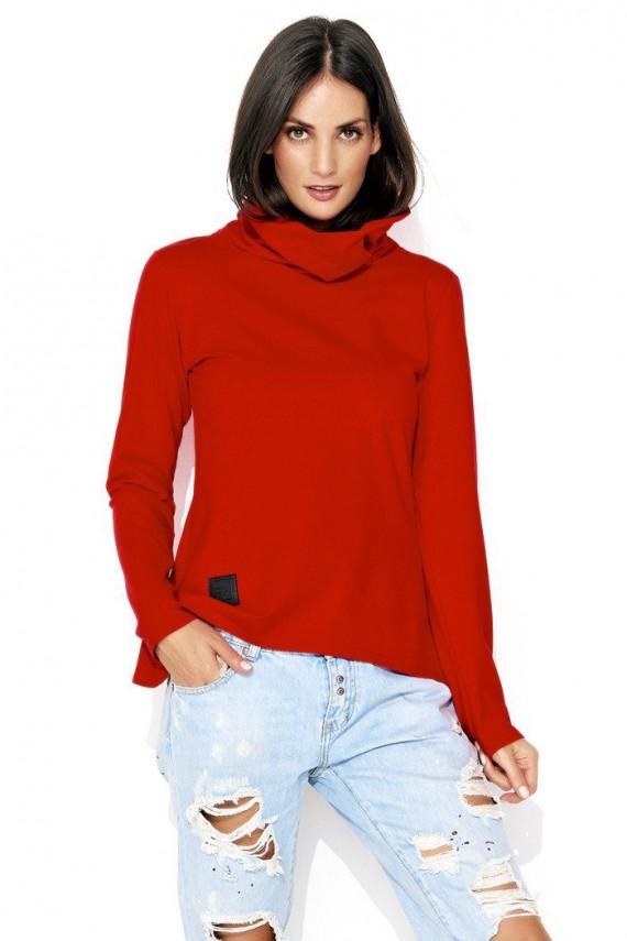 Bluza czerwona z golfem NU114