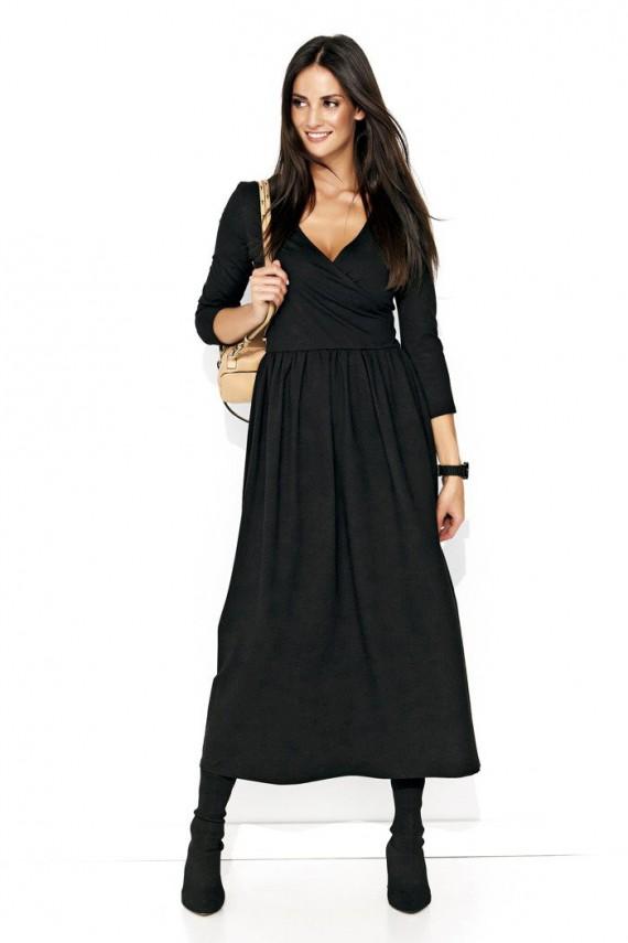 Sukienka czarna maxi NU119