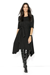Sukienka czarna asymetryczna NU137