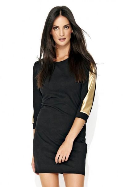 Mini sukienka ze złotą...