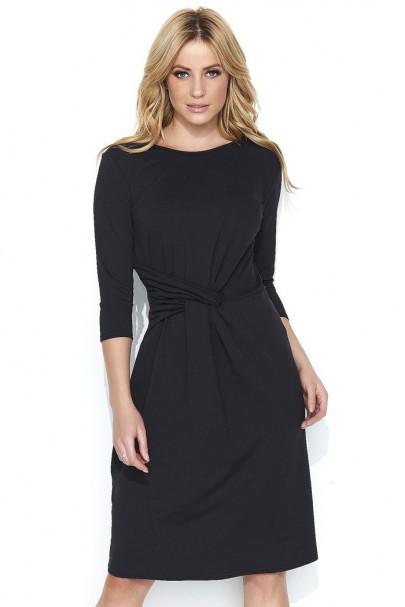 Sukienka czarna z wiązaniem...