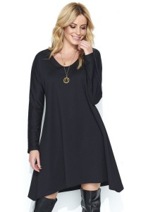 Sukienka czarna asymetryczna M453