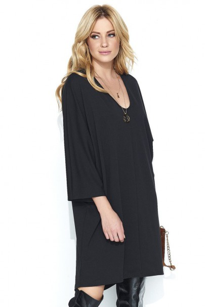 Sukienka czarna oversize M457