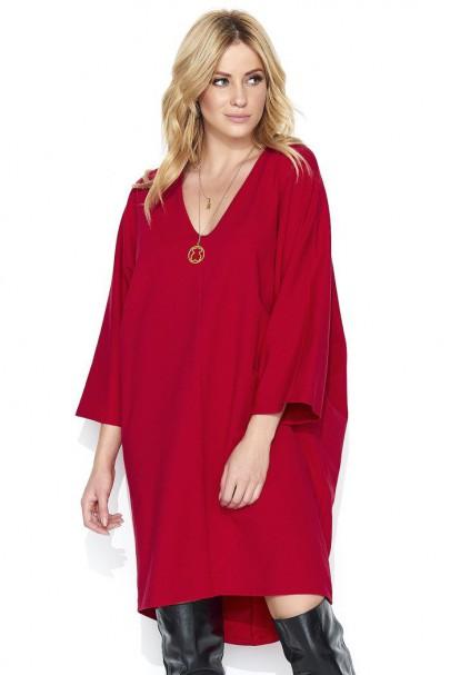 Sukienka czerwona oversize...