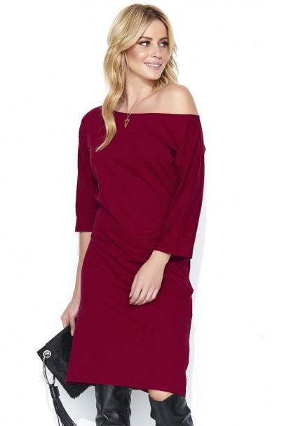 Sukienka bordowa M459