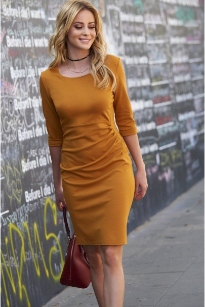 Sukienka Musztardowa M449