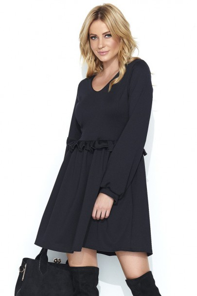 Sukienka czarna w serek M455
