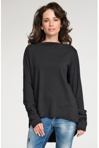 Bluza czarna asymetryczna NU40