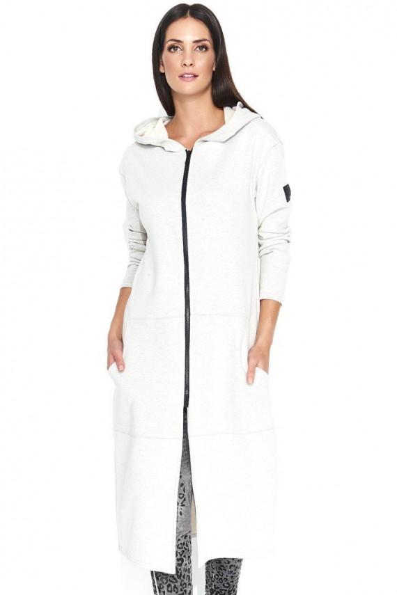 Bluza beżowa z kapturem NU141