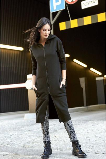 Bluza czarna z kapturem NU141