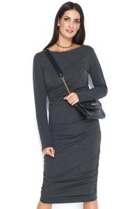 Elegancka sukienka z marszczeniami NU144