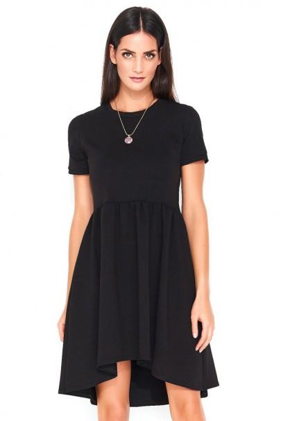 Sukienka czarna marszczona...
