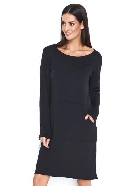 Sukienka czarna z kieszenią...