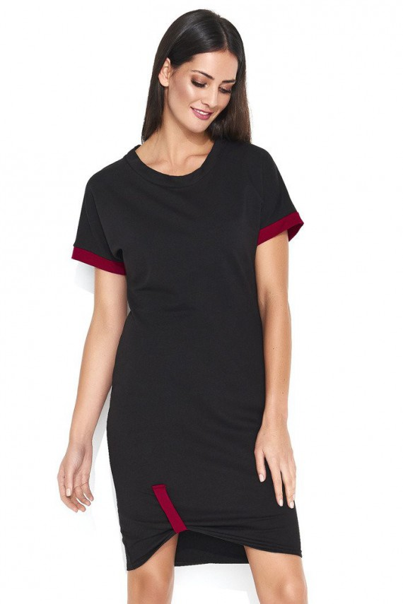 Sukienka czarna z krótkim...