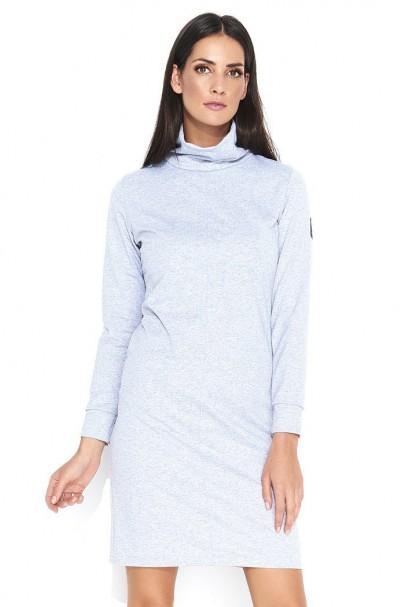 Sukienka szara z golfem NU127