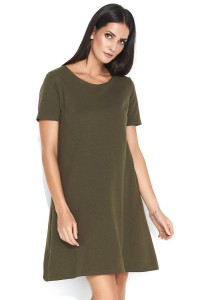 Sukienka khaki trapezowa NU150