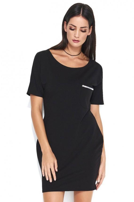 Sukienka czarna z kieszonką...