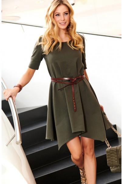Sukienka khaki luźna M467