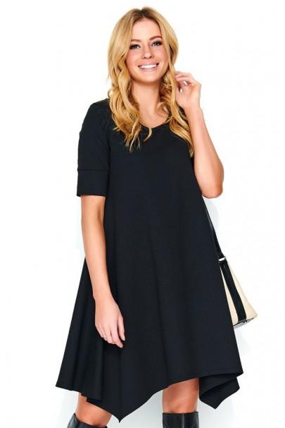 Sukienka czarna luźna M467