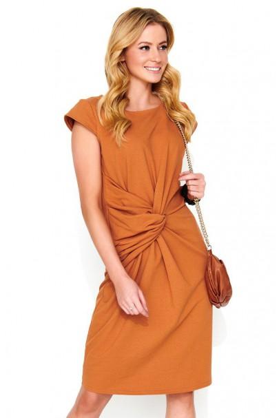 Sukienka camelowa z...