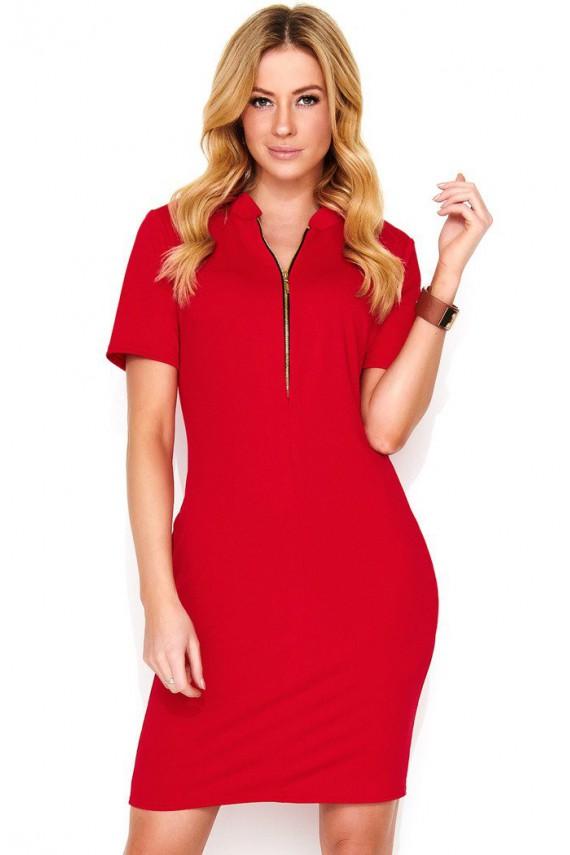 Sukienka czerwona z zamkiem...