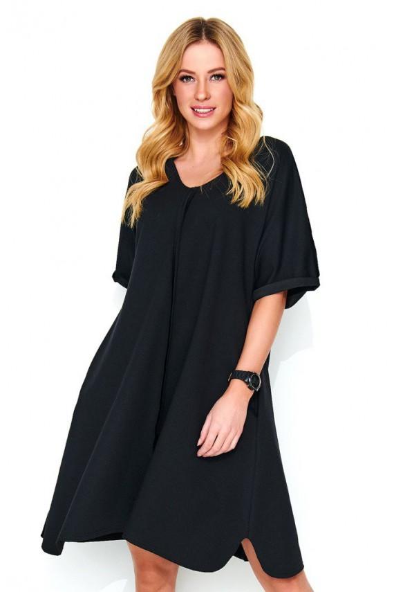 Sukienka czarna trapezowa M474