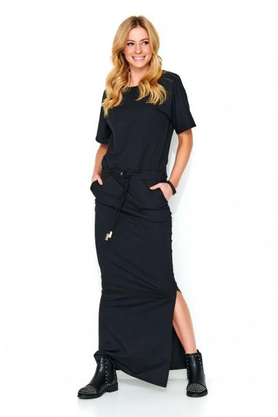 Maxi sukienka czarna M468
