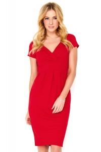 Sukienka czerwona dopasowana M477