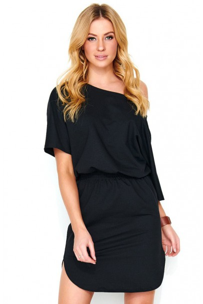 Mini sukienka czarny M475